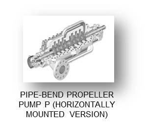 PIPE-BEND PROPELLER PUMP P